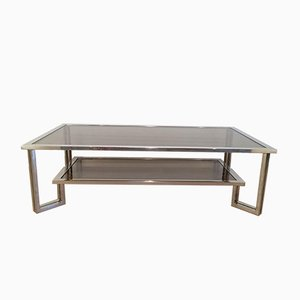 Table Basse en Chrome, 1970s