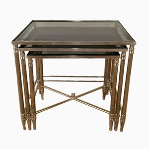 Tables Gigognes en Nickel, 1960s