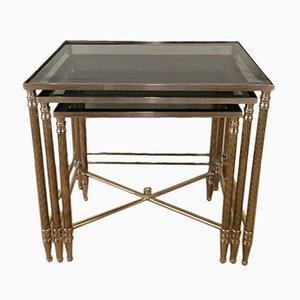 Tavolini a incastro in nichel, anni '60