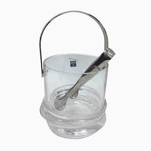 Secchiello per il ghiaccio in cristallo di Claire Le Sage per Arnolfo di Cambio, anni '80