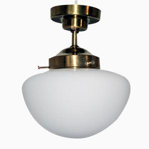 Lampe à Suspension Art Déco en Opaline, Autriche