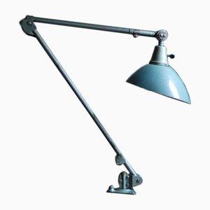 Lampe de Bureau Hammered Turquoise Vintage par Curt Fischer pour Industriewerke Auma