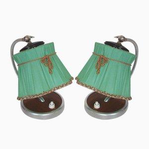Lámparas de mesita de noche, años 50. Juego de 2