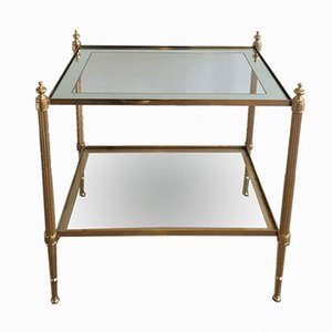 Brass Side Table by Maison Jansen, 1960s