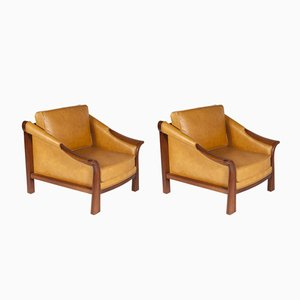 SN 37 Armchairs by Pierre Chareau, 1970s, Set of 2