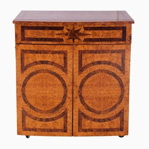 French Lacquered Burl Bar Cabinet, 1970s