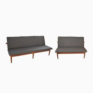 Juego de sofás modelo 137 de dos y tres plazas de Finn Juhl para France & Søn, 1953
