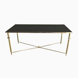 Table Basse en Laiton et Miroir Brass & Mirror Coffee Table, 1940s
