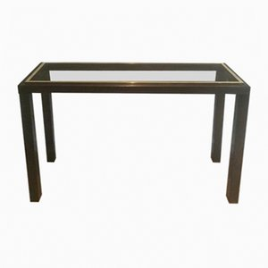 Table Basse en Bronze à Canon et Laiton par Guy Lefèvre, 1970s
