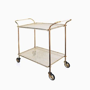Serving Trolley in Perforated Metal by Mathieu Matégot, 1950s