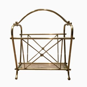 Brass Magazine Rack, 1940s