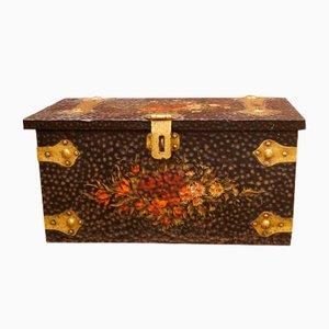 Britischer handbemalter vintage Koffer, 1930er