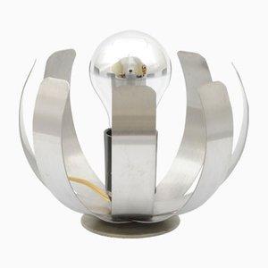 Edelstahl Fleur de Lumière Tischlampe von Jocelyn Trocmé für Oxar, 1970er