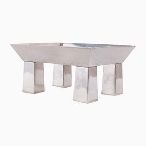 Centro de mesa Basilio de estaño de Ettore Sottsass para Serafino Zani