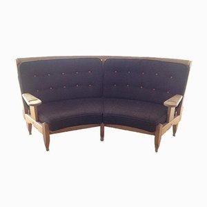 Rundes Sofa von Guillerme et Chambron für Votre Maison, 1960er