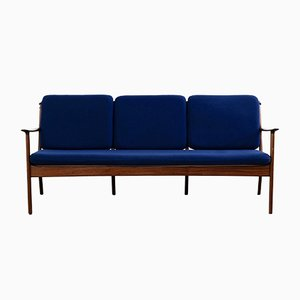 Vintage 3-Seater Mahogany Sofa by Ole Wanscher for Poul Jeppesens Møbelfabrik