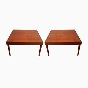 Tables d'Appoint Mid-Century en Bois, Set de 2