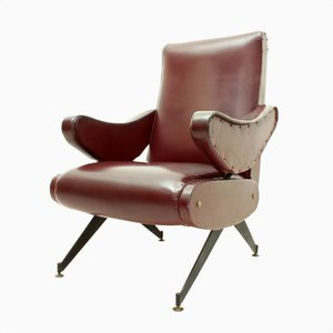 Poltrona reclinabile di Nello Pini per Mobilificio Oscar Gigante, anni '60