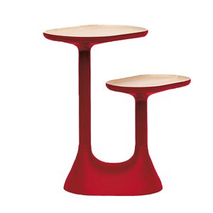 Tavolino da caffè Baobab rosso di Ionna Vautrin per Moustache, 2018