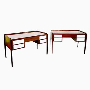 Mid-Century Formica Writing Desks, Set of 2