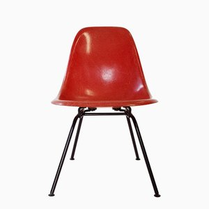 Low Red Side Chair by Charles & Ray Eames for Herman Miller, 1960s