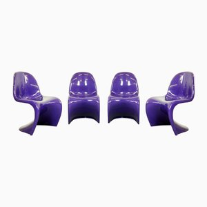 Chairs by Verner Panton for Fehlbaum & Herman Miller, 1974, Set of 4