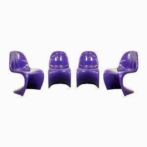 Stühle von Verner Panton für Fehlbaum & Herman Miller, 1974, 4er Set