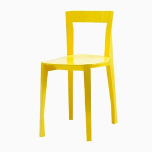 Yellow Quadrille Chair by François Azambourg for Moustache, 2018