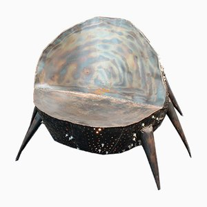 Sedia in ferro con luce di Project Eisenherz, annni '80