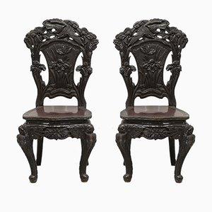 Sedie antiche, Cina, set di 2