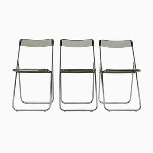 Vintage Swedish Folding Chairs, 1978, Set of 3