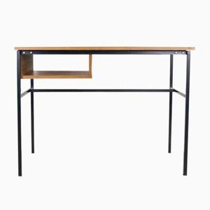 Minimalist Teak Veneer Desk by Pierre Gauriche for Meurop, 1960s