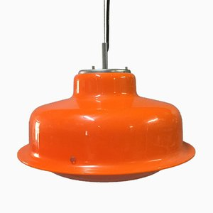 Orange & White Pendant Lamp from Harvey Guzzini, 1970s