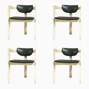 Space Age Dreibein Stühle, 1970er, 4er Set