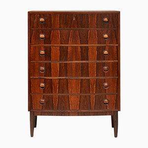 Vintage Chest of Drawers in Rosewood by Kai Kristiansen, 1960s