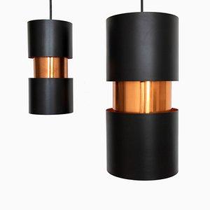 Lámparas colgantes Vesuv de Jo Hammerborg para Fog & Mørup, años 60. Juego de 2