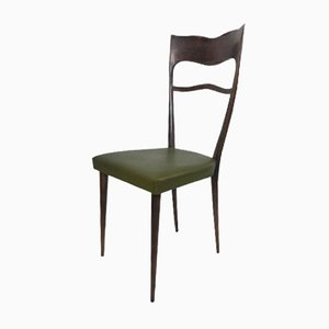 Esszimmerstühle mit hohen Rückenlehnen, 1950er, 6er Set