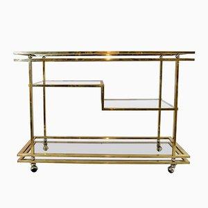 Vintage Italian Brass 4-Tier Bar Cart