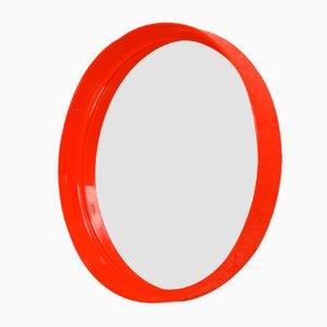 Roter runder Spiegel von Pierre Guariche für Meurop, 1970er