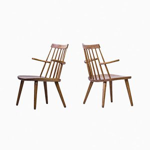 Sibbo Loungette Chairs by Yngve Ekström for Stolab, 1950s, Set of 2
