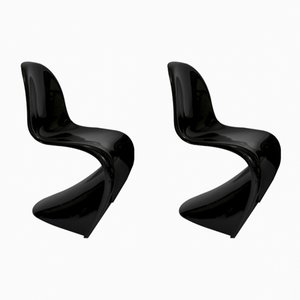 Fiberglass Panton Chairs by Verner Panton for Vitra, 1980s, Set of 2