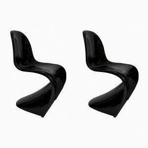 Panton Stühle aus Fiberglas von Verner Panton für Vitra, 1980er, 2er Set