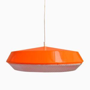Orangefarbene vintage Plastik Hängelampe