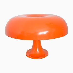 Orangefarbene Modell Nesso Tischlampe von Giancarlo Mattioli für Artemide, 1960er