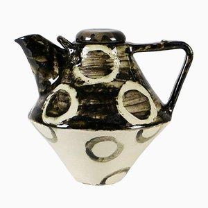 Dänische handgefertigte Keramik Vase, 1960er