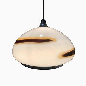 Lampada a sospensione in vetro di Murano soffiato a mano di Vistosi, anni '60