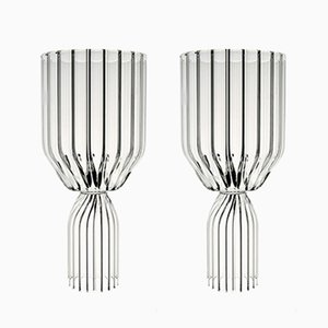 Margot White Wine Goblets by Felicia Ferrone for fferrone, Set of 2
