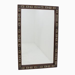 Danish Haslev Rosewood and Tile Mirror from Royal Copenhagen, 1960s