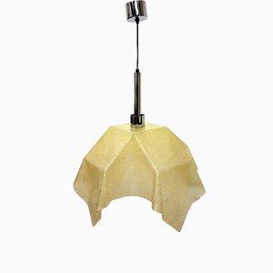 Lampada Fazzoletto in fibra di vetro di Salvatore Gregorietti per Valenti, anni '60