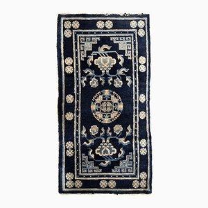 Antiker chinesischer handgeknüpfter Teppich, 1900er